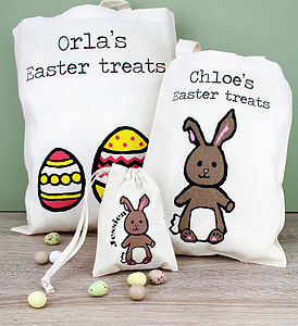 Personalised Easter Egg Hunt Bag - last minute easter gifts