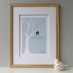 Personalised Love Birds Print - wedding gifts