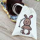 tiny drawstring bunny bag