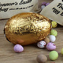foil covered easter egg