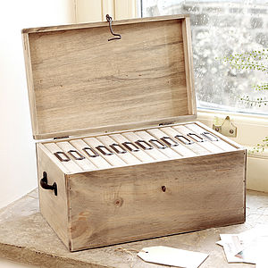 Large Wooden Family Photo Storage Box - gifts for him sale
