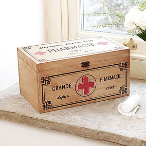 Rustic First Aid Box - storage & organisers