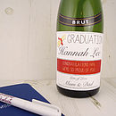 Graduation Personalised Champagne Label