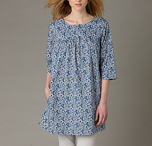 Blue Liberty Tunic - luxury fashion
