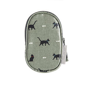 Cat Oilcloth Gadget Holder - phone & tablet covers & cases