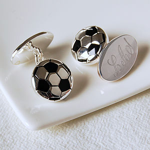 Personalised Football Cufflinks - men's accessories
