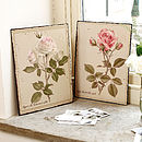 Set Of Two Vintage Floral Decoration Wall Plaques