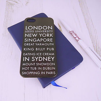 Personalised Destination iPhone Case
