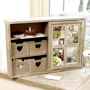 Country Heart Multiuse Wall Cabinet