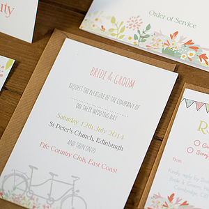 20 Pembroke Wedding Invitations - order of service & programs