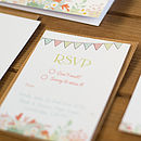 Contemporary Wedding Stationery We Tie the Knot Pembroke Save the Date