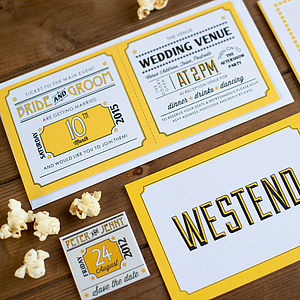 20 West End Wedding Invitations - save the date cards