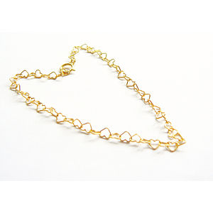 Gold Vermeil Heart Bracelet - women's sale