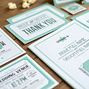 Contemporary Wedding Stationery We Tie the Knot Westend Persian Invite