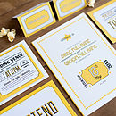 Contemporary Wedding Stationery We Tie the Knot Westend Mustard Invite