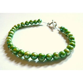 Green Freshwater Pearl Collar Necklace