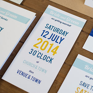 20 Whitstable Wedding Invitations - order of service & programs