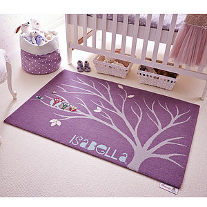 Personalised Whooo's Leafing Around Rug - gifts for children