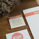 Contemporary Wedding Stationery We Tie the Knot Whitstable Seasalter Invite