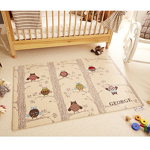 Personalised Winter Woolies Rug - children's decorative accessories