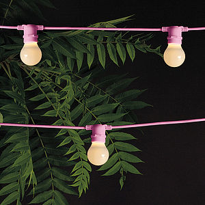 Outdoor Garland Lighting - lights & lanterns