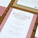 Contemporary Wedding Stationery We Tie the Knot Windermere Cedar Invite