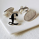 Personalised Pound Sign Cufflinks