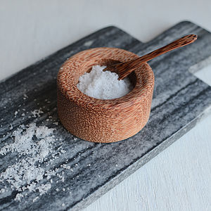 Salt Cellar And Spoon Set - tableware
