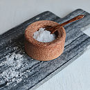 Coconut Wood Salt Cellar And Spoon Set
