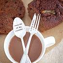 Personalised Vintage Tea Spoon And Cake Fork