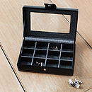 Mens Black Cufflink And Jewellery Box