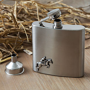 Horse Jumping Hip Flask - men's accessories
