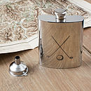 Golf Clubs Hip Flask