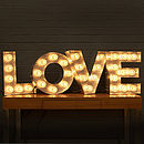 'Love' Light Up Fairground Bulb Sign