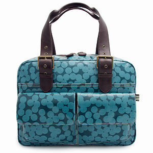 Blue Spot Box Tote - shoulder bags