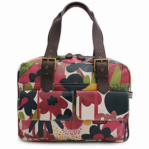 Wild Floral Box Tote - shoulder bags