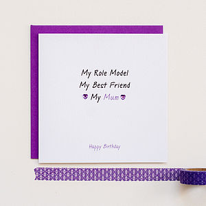 Personalised 'My Mum' Card - mother's day cards