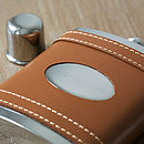 Congratulations Tan Leather Wrapped Hip Flask