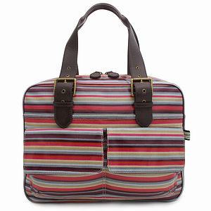 Stripe Box Tote - shoulder bags