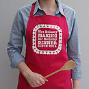 Personalised Love You Heart Apron
