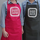 Personalised Mr And Mrs Love Heart Aprons