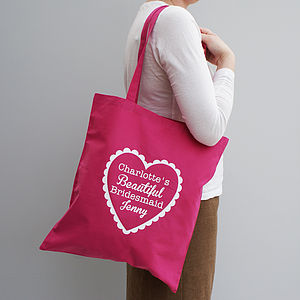 Personalised 'My Beautiful Bridesmaid' Tote Bag