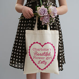 Personalised 'My Beautiful Flower Girl' Shopper - wedding thank you gifts