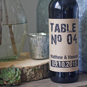 Personalised Wine Bottle Table Numbers - table numbers