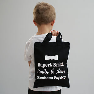 Personalised 'My Handsome Pageboy' Shopper - wedding thank you gifts