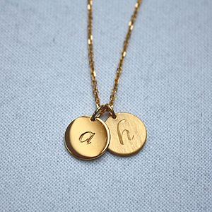 Disc Necklace With Lower Case Initial