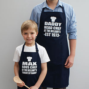 Personalised 'Daddy And Me' Apron Set - aprons