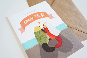 'You Found Your Otter Half' Wedding Card