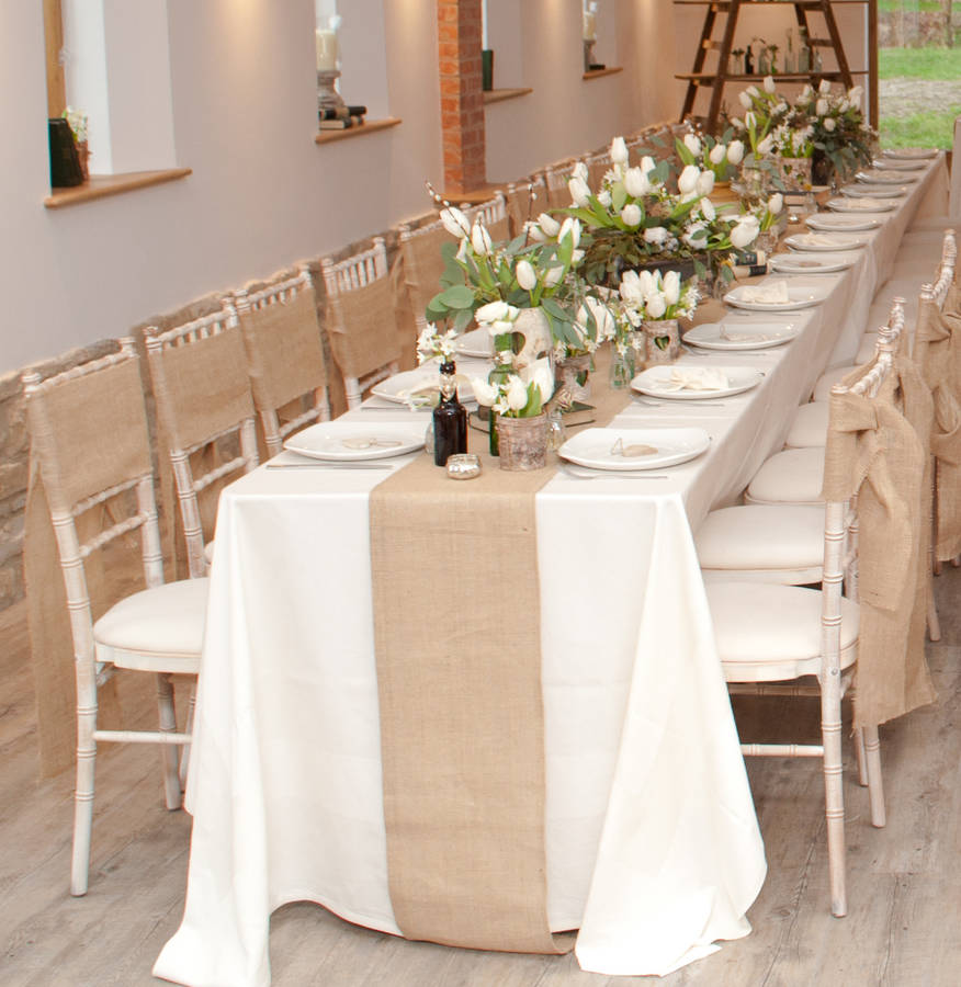 Hessian burlap table runner 2m by the wedding of my dreams notonthehighstre - Decoration tables mariage ...