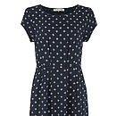 End of the Day Dress Navy Wave